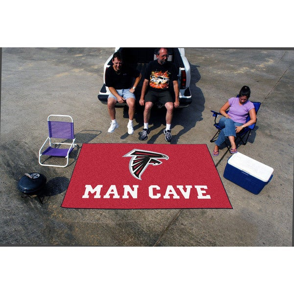 Fanmats Machine-made Atlanta Falcons Red Nylon Man Cave Ulti-Mat (5' x 8')