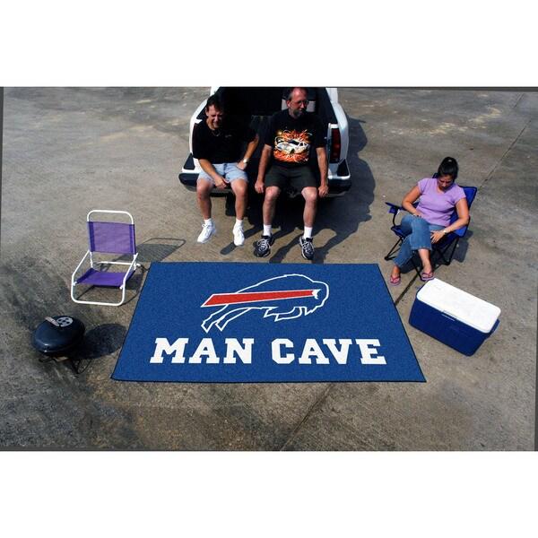 Fanmats Machine-made Buffalo Bills Blue Nylon Man Cave Ulti-Mat (5' x 8')