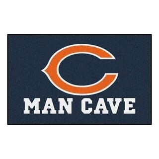 Fanmats Machine-made Chicago Bears Blue Nylon Man Cave Ulti-Mat (5' x 8')