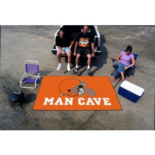 Fanmats Machine-made Cleveland Browns Orange Nylon Man Cave Ulti-Mat (5' x 8')