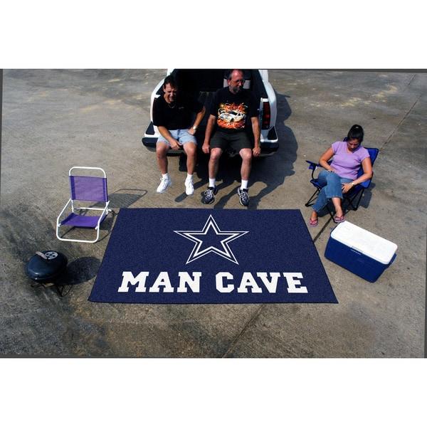 Fanmats Machine-made Dallas Cowboys Blue Nylon Man Cave Ulti-Mat (5' x 8')
