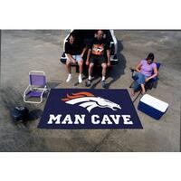 Fanmats Machine-made Denver Broncos Blue Nylon Man Cave Ulti-Mat (5' x 8')