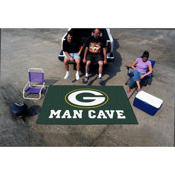 Fanmats Machine-made Green Bay Packers Green Nylon Man Cave Ulti-Mat (5' x 8')