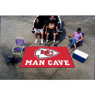 Fanmats Machine-made Kansas City Chiefs Red Nylon Man Cave Ulti-Mat (5' x 8')