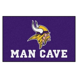 Fanmats Machine-made Minnesota Vikings Purple Nylon Man Cave Ulti-Mat (5' x 8')