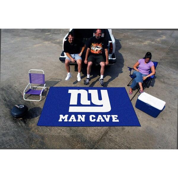 Fanmats Machine-made New York Giants Blue Nylon Man Cave Ulti-Mat (5' x 8')