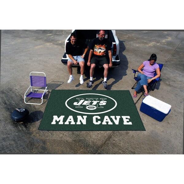 Fanmats Machine-made New York Jets Green Nylon Man Cave Ulti-Mat (5' x 8')