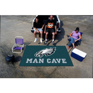 Fanmats Machine-made Philadelphia Eagles Teal Nylon Man Cave Ulti-Mat (5' x 8')