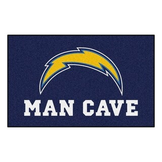 Fanmats Machine-made San Diego Chargers Blue Nylon Man Cave Ulti-Mat (5' x 8')
