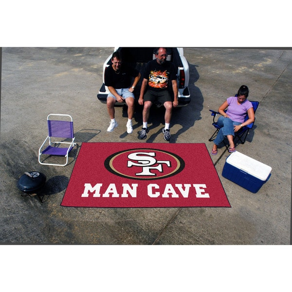 Fanmats Machine-made San Francisco 49ers Red Nylon Man Cave Ulti-Mat (5' x 8')
