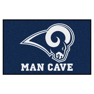 Fanmats Machine-made Los Angeles Rams Blue Nylon Man Cave Ulti-Mat (5' x 8')