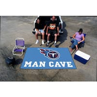 Fanmats Machine-made Tennessee Titans Blue Nylon Man Cave Ulti-Mat (5' x 8')