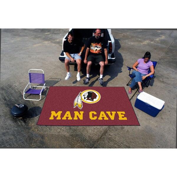 Fanmats Machine-made Washington Redskins Burgundy Nylon Man Cave Ulti-Mat (5' x 8')