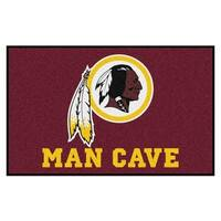Fanmats Machine-made Washington Redskins Burgundy Nylon Man Cave Ulti-Mat (5' x 8')