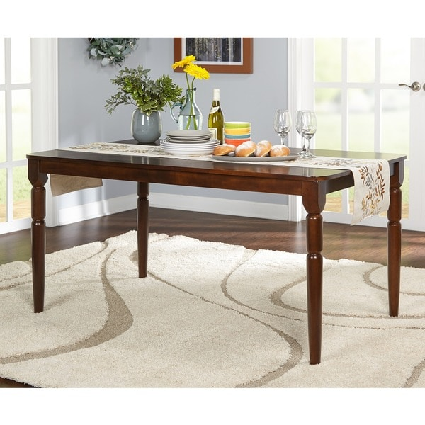 simple living albury dining table free shipping today overstock