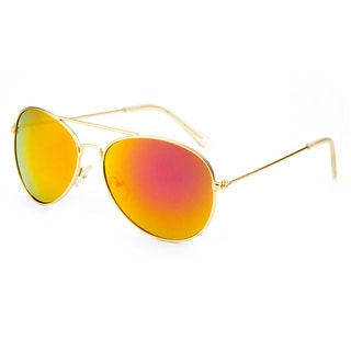 EPIC Eyewear Men's 'Leon' Double Bridge Aviator Sunglasses