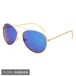 EPIC Eyewear Men's 'Leon' Double Bridge Aviator Sunglasses