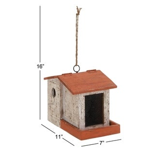 Wood Birdhouse 11 Inches Wide x 16 Inches High