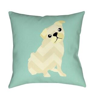 Thumbprintz Chevron Pug Decorative Pillow
