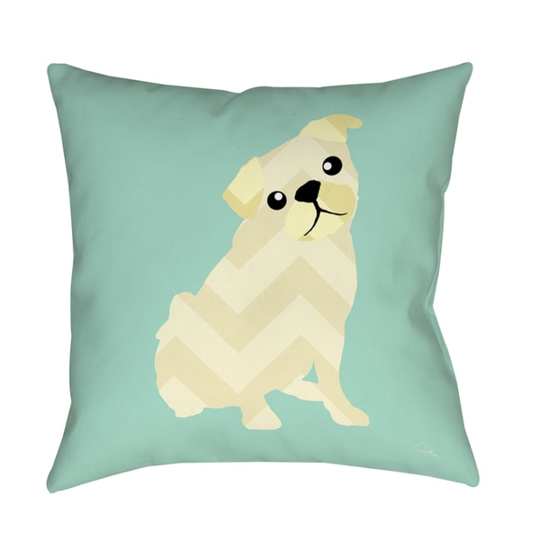 Chevron Pug Decorative Pillow