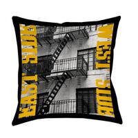 East Side Yellow Decorative Pillow