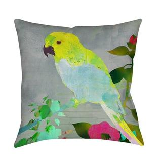 Collage Parrot Indoor/ Outdoor Pillow
