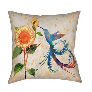 Daisy Hum Neutral Decorative Pillow