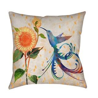 Daisy Hum Neutral Indoor/ Outdoor Pillow