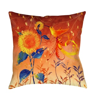 Thumbprintz Daisy Hum Dark Decorative Pillow