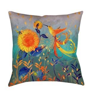 Daisy Hum Teal Decorative Pillow