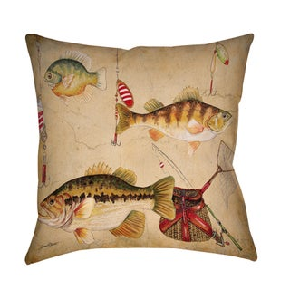 Fish and Lures Decorative Pillow