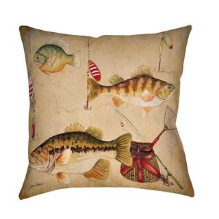 Thumbprintz Fish and Lures Indoor/ Outdoor Pillow