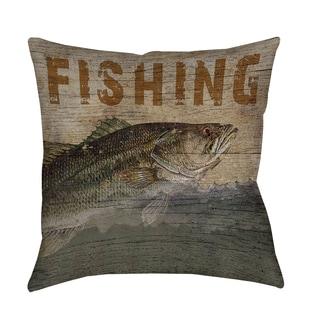 Thumbprintz Fishing Indoor/ Outdoor Pillow