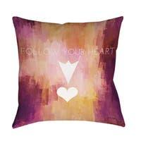 Follow Your Heart Indoor/ Outdoor Pillow