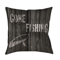 Gone Fishing Decorative Pillow