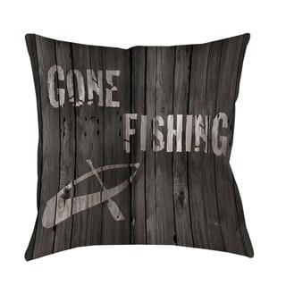 Gone Fishing Indoor/ Outdoor Pillow
