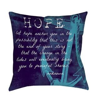 Thumbprintz Let Hope Anchor You Decorative Pillow