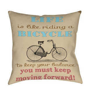 Thumbprintz Life Bicycle Decorative Pillow