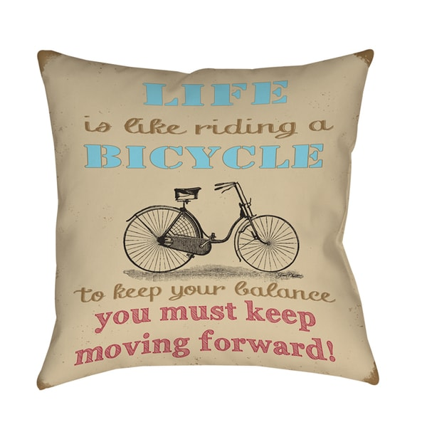Shop Life Bicycle Indoor Outdoor Pillow On Sale Free Shipping