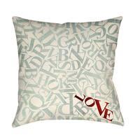 Love Alphabet Jumble Decorative Throw Pillow