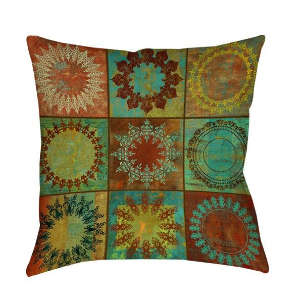 Medallion Grid Decorative Pillow