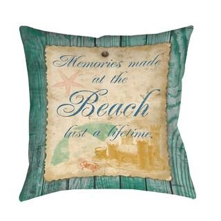 Thumbprintz Memories at the Beach Decorative Pillow