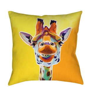 Thumbprintz Giraffe No 3 Decorative Pillow
