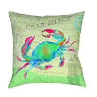 Salty Air Crab Decorative Pillow