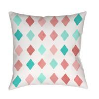 Marsala and Teal Diamonds Indoor/ Outdoor Pillow