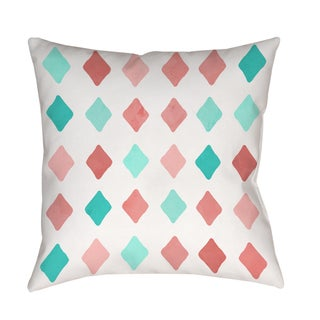 Marsala and Teal Diamonds Indoor/ Outdoor Pillow (Large - 20 x 20)