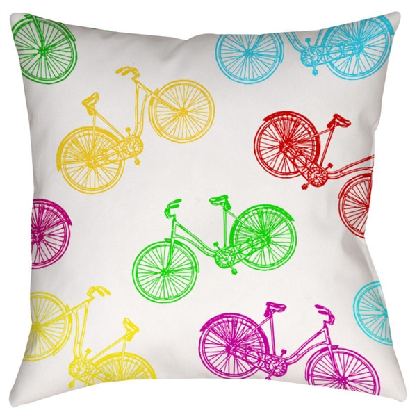 7 Top Tips For Throwing A Grand Party In A Small Home: Shop Neon Party Bike Pattern Decorative Pillow