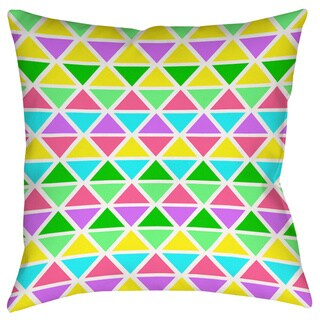 Neon Party Geo Pattern Decorative Pillow