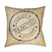 Stamp Rejected Decorative Throw Pillow