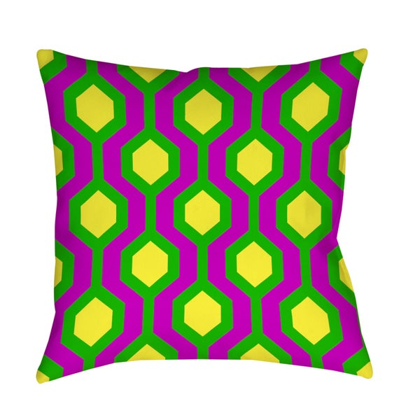 Neon Party Honeycomb Pattern Decorative Pillow